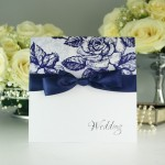 Blue Rose Wedding Invitation