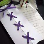 Purple Corset Style Wedding Invitation