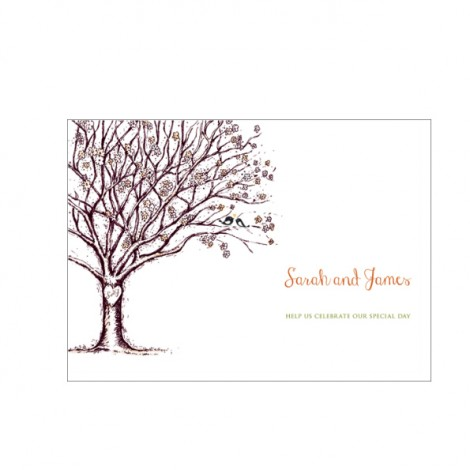 Tree of Love Wedding Invite from Bride and Groom