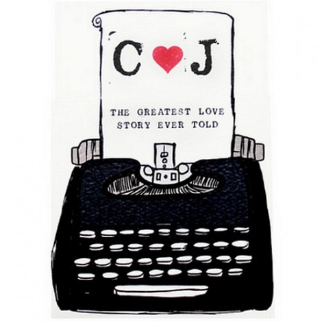 Typewriter Wedding Invitation