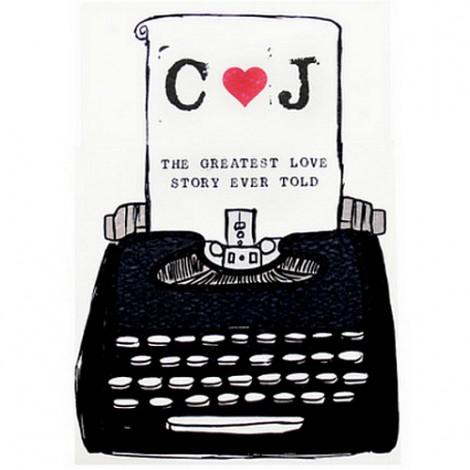 Typewriter Wedding Invitation