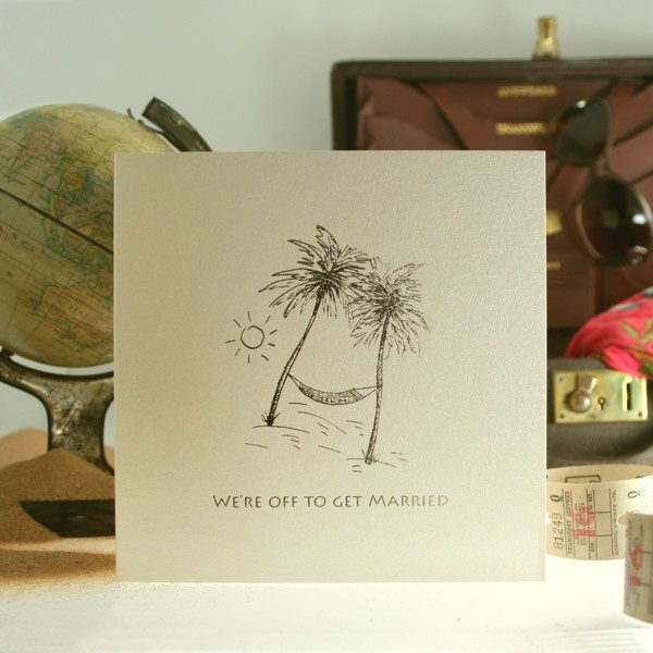 Paradise Island Luxury Wedding Invitation