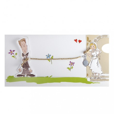 Ball and Chain Funny Wedding Invitation Card