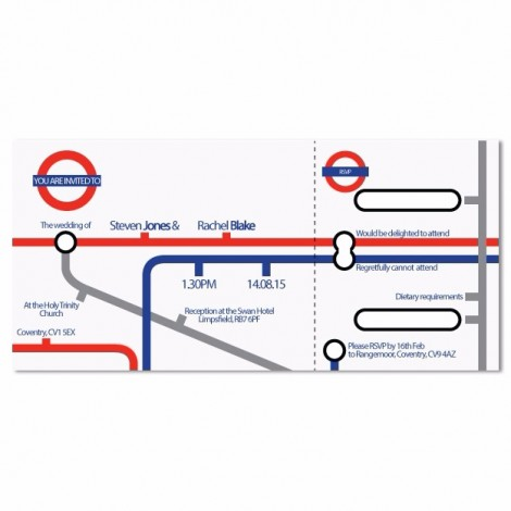 London Underground Map Wedding Invitation