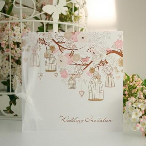 Love Birds and Bird Cages Wedding Invite