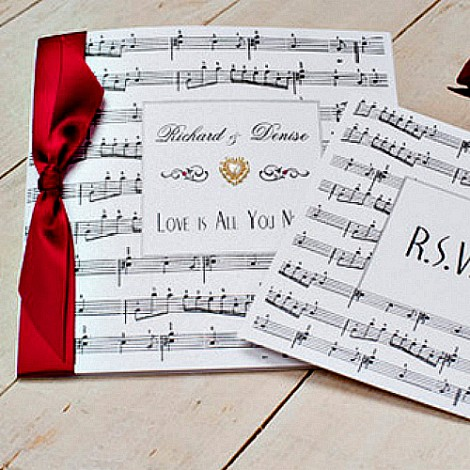 Musical Note Wedding Invitation