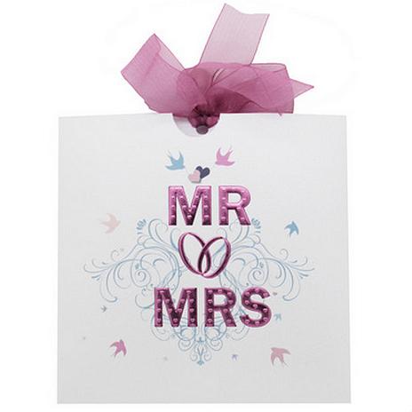 Pink Foil Wallet Wedding Invitation