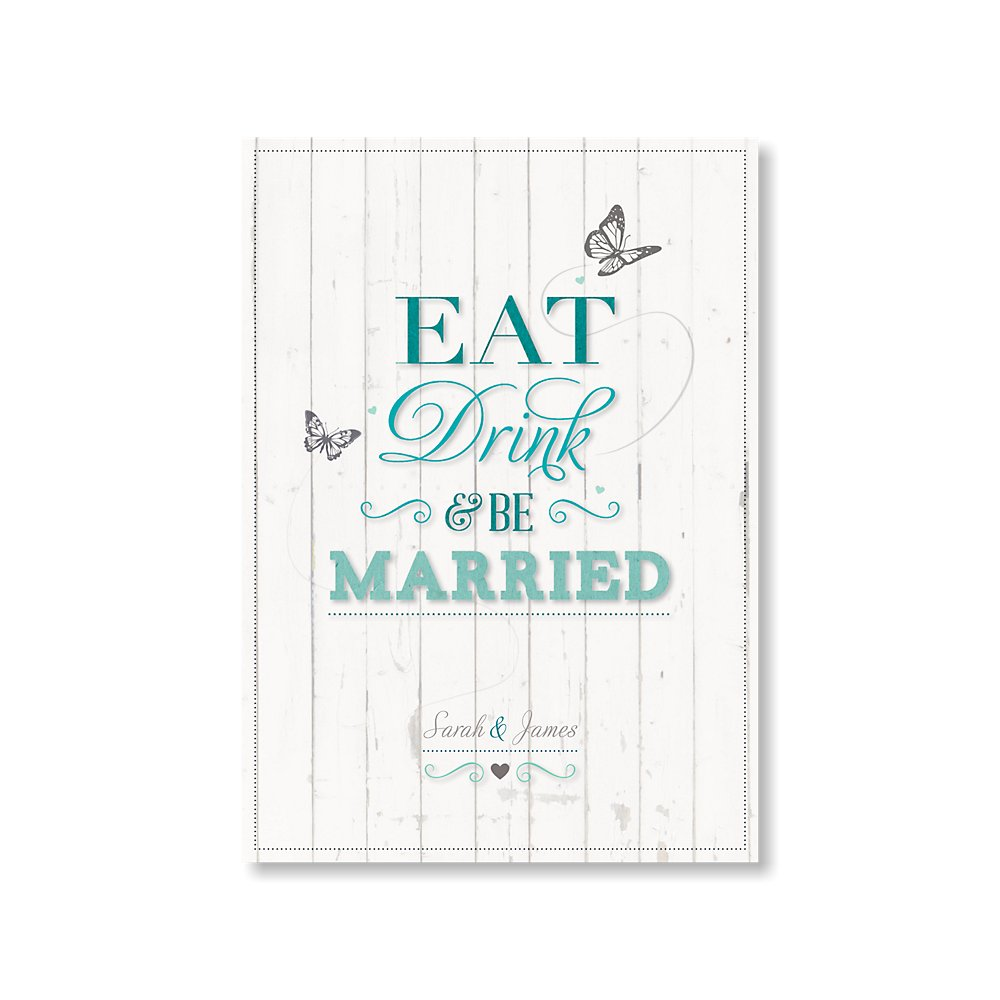 Eat Drink And Be Married Teal