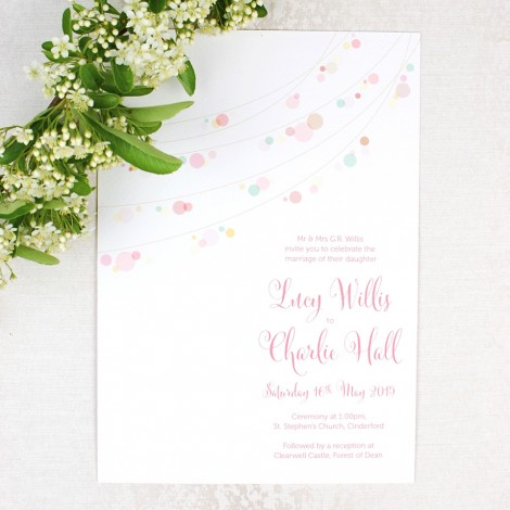Fairylights Magical Wedding Invitation