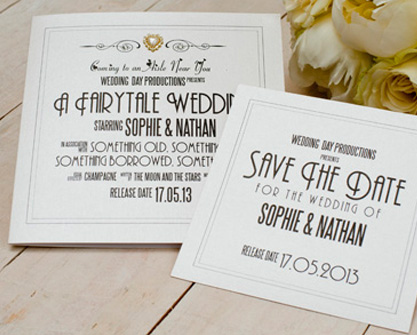 Casablanca Wedding Invitation