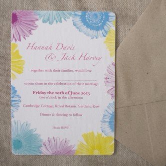 Festival Flowers Wedding Invitation