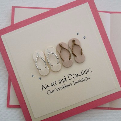 Flip Flop Wedding Invitation