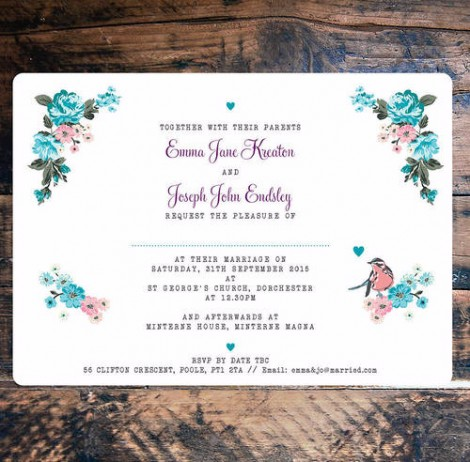 Flora Dreams Wedding Invitation