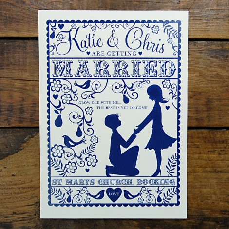 Folk Love Romantic Wedding Invitation