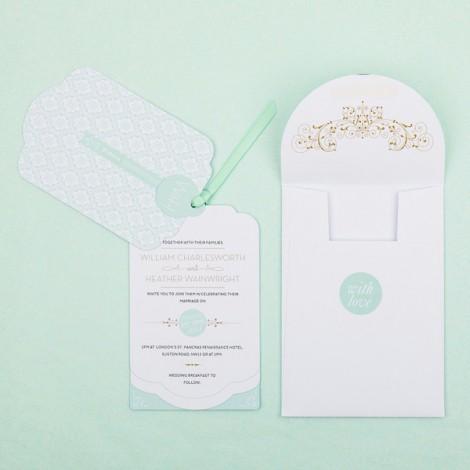 Love lace Luxe Wedding Invitation