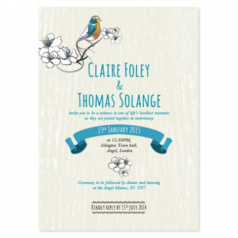 Lovely Birdies Wedding Invitation