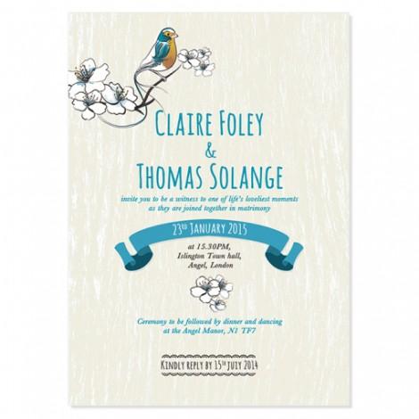 Lovely Birdies Wedding Invitation