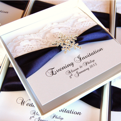 Luxury Snowflake Winter Wedding Invite