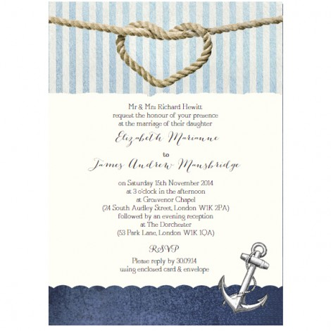 Nautical Knot Wedding Invitation