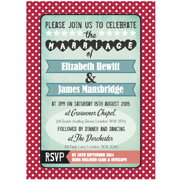 American Wedding Invitations with beautiful invitations design