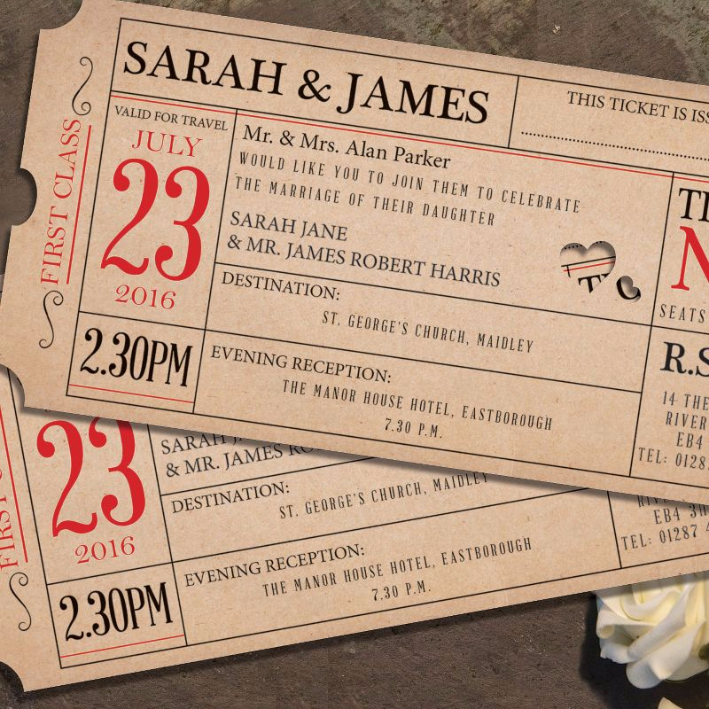 Wedding Invitation Tickets: Wedding Invitation Gallery
