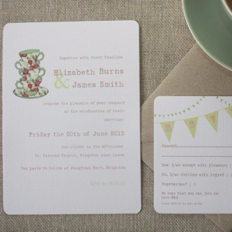 Time for Tea Wedding Invite