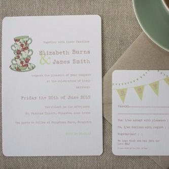 Time for Tea Wedding Invite