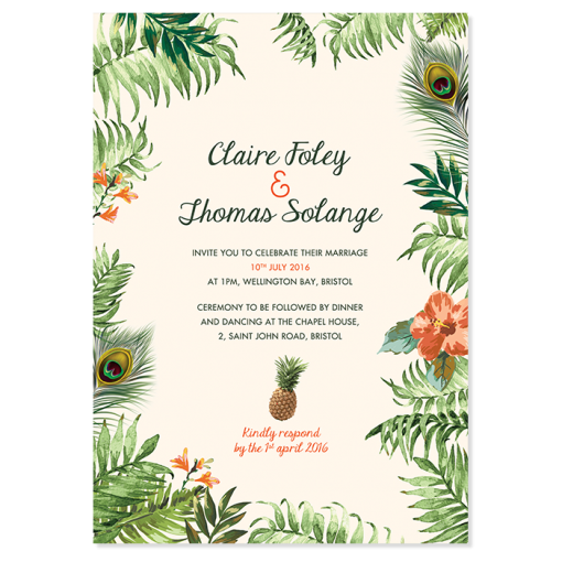 Tropical Jungle - Wedding Invitation Gallery