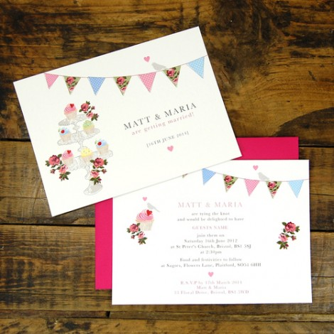 Vintage Fete Wedding Invitation