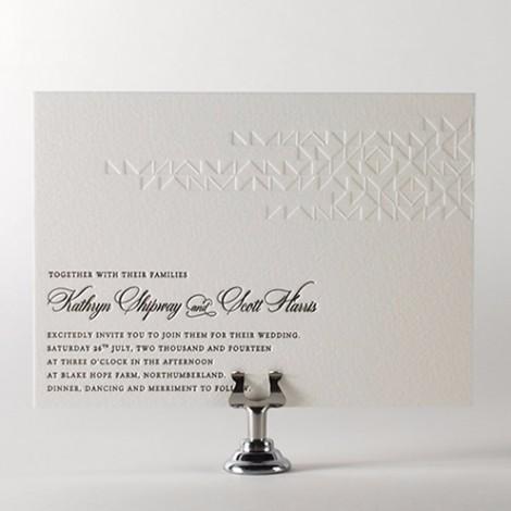 Zoe Embossed Wedding Invitation