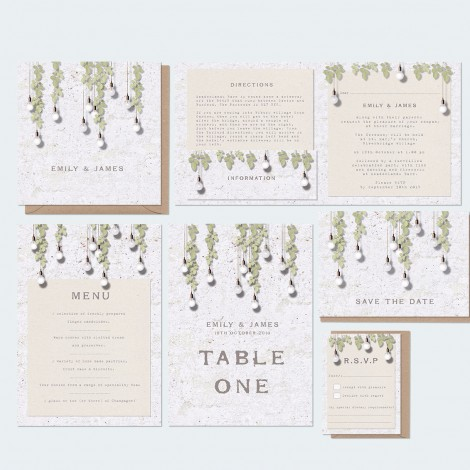 Alfresco Wedding Invitation