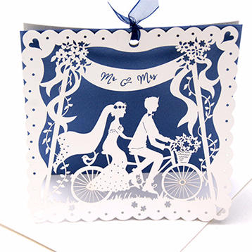 Bicycle Made for Two Wedding Invitation