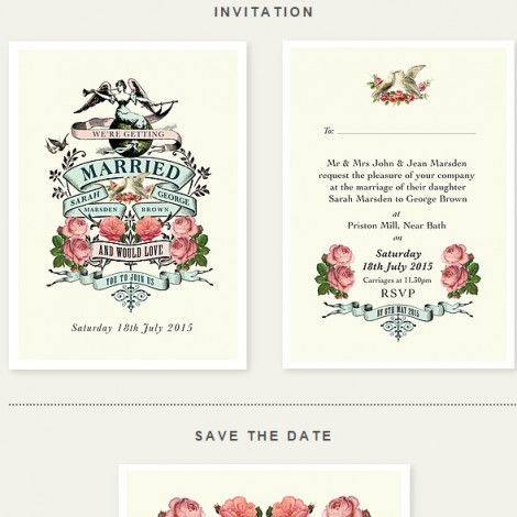 Bloomtastic Wedding Invite