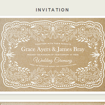 Boho Mojo Wedding Invite
