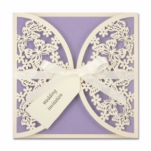 Butterflies Wedding Invite