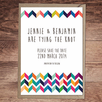 Chevron Wedding Invite