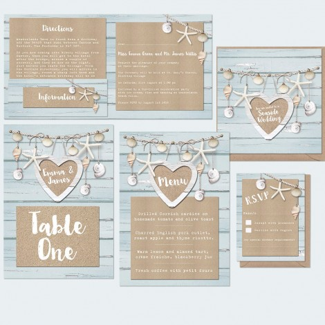 Coastal Retreat Wedding Stationery