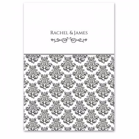 Damask Black Wedding Invitation