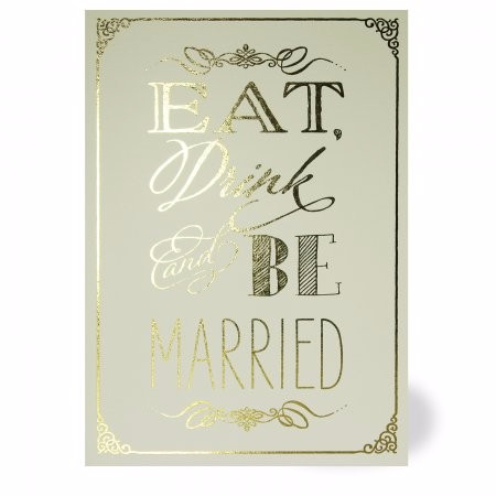 Eat Drink and Be Married Wedding Invite
