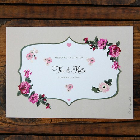 Fancy Florals Wedding Invitation