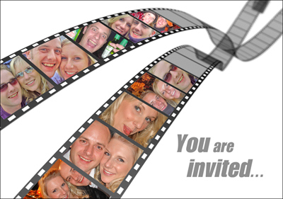 Filmstrip Wedding Invitation