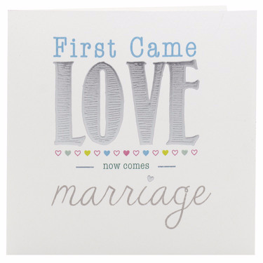 First Came Love Wedding Invite
