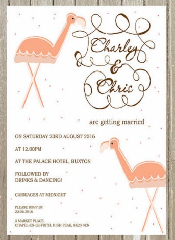 Flamingo Wedding Invite