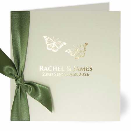 Flutter Gold Wedding Invite