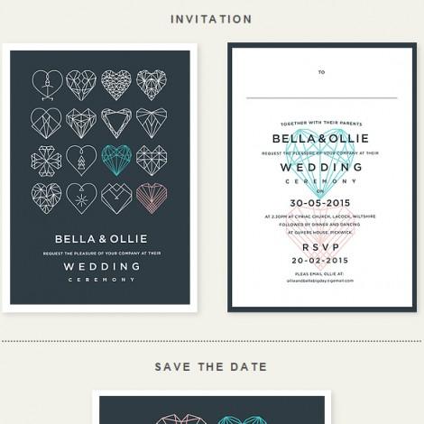 Heart to Heart Wedding Invite