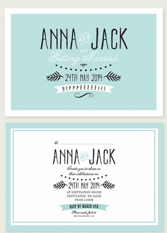 Hippy Shake Wedding Invite