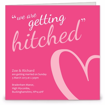 Hitched Wedding Invitation