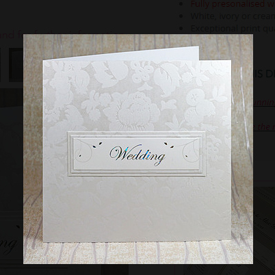 Isabella Wallet Wedding Invitation