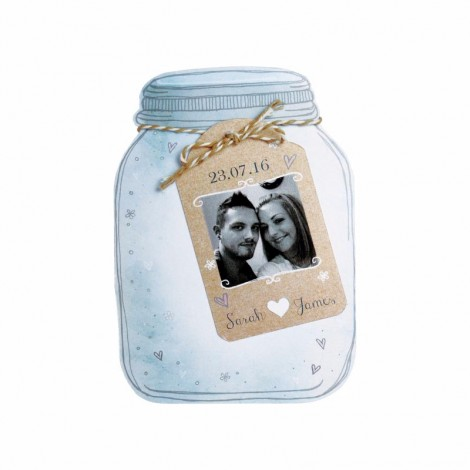Jar of Hearts Wedding Invite