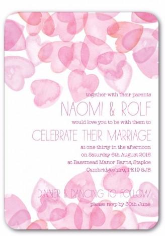 Hearts Galore Wedding Invite